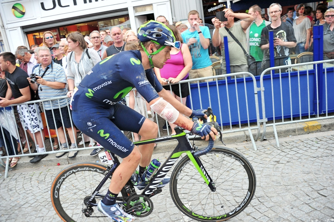 Alex Dowsett, injury, 2015, stage four, Tour de France, pic - Sirotti