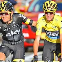 Chris Froome, Team Sky, Geraint Thomas, Champs-Elysees, Tour de France, 2015, pic - Sirotti