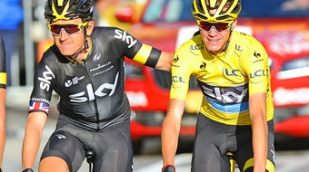 Chris Froome, Team Sky, Geraint Thomas, Champs-Elysees, Tour de France, 2015, pic - Sirotti