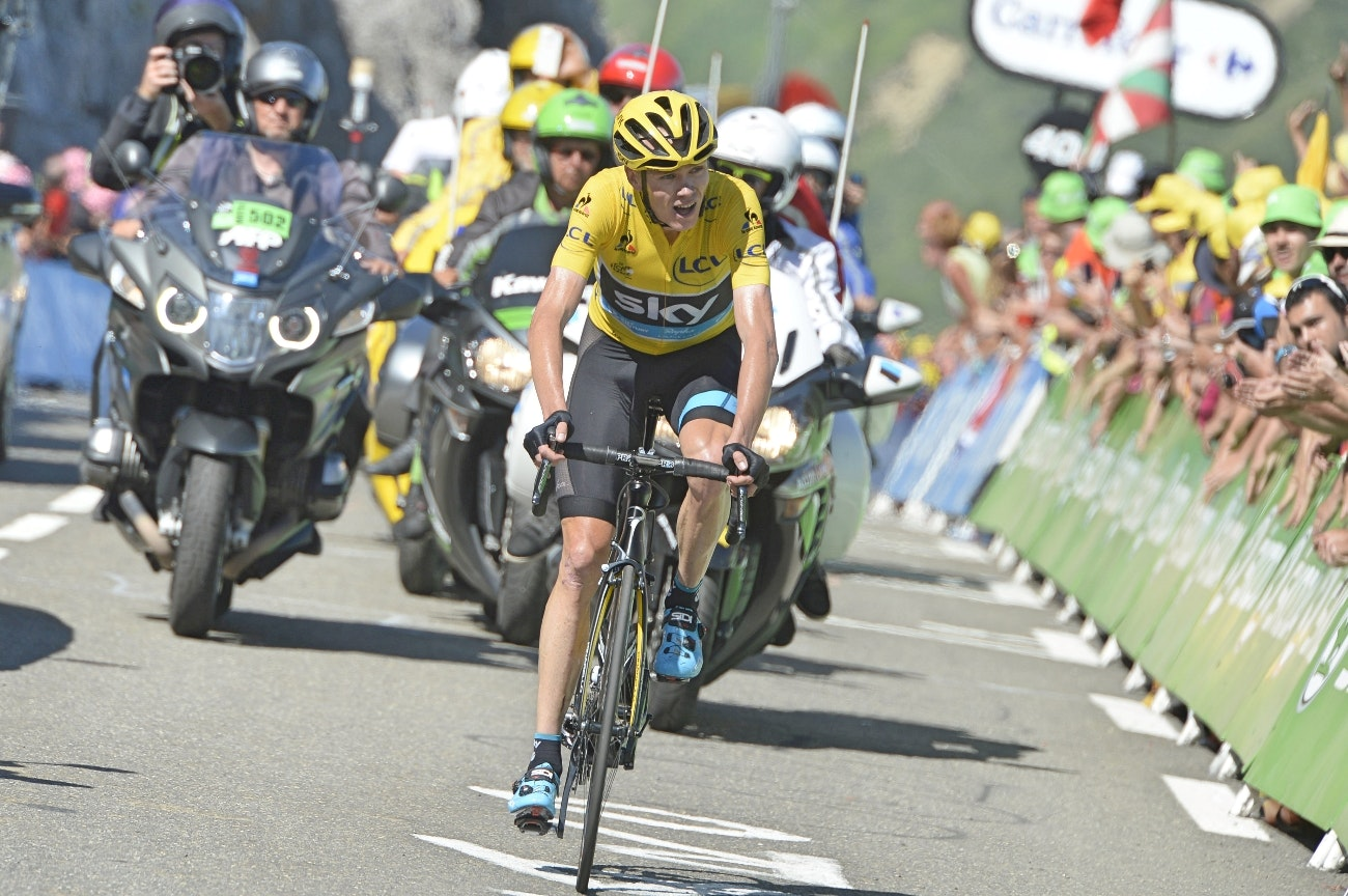 Chris Froome, Team Sky, Tour de France, 2015, yellow jersey, pic - Sirotti