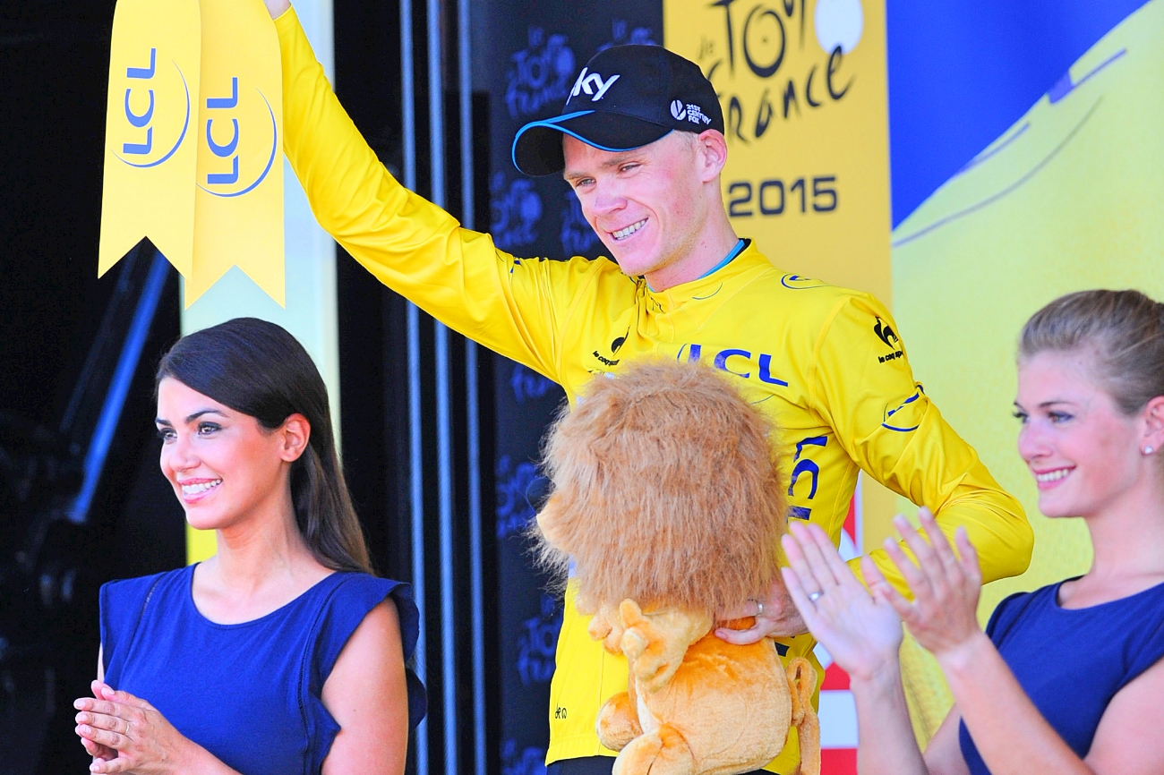 Chris Froome , Team Sky, Yellow Jersey, Tour de France, 2015, pic: Sirotti