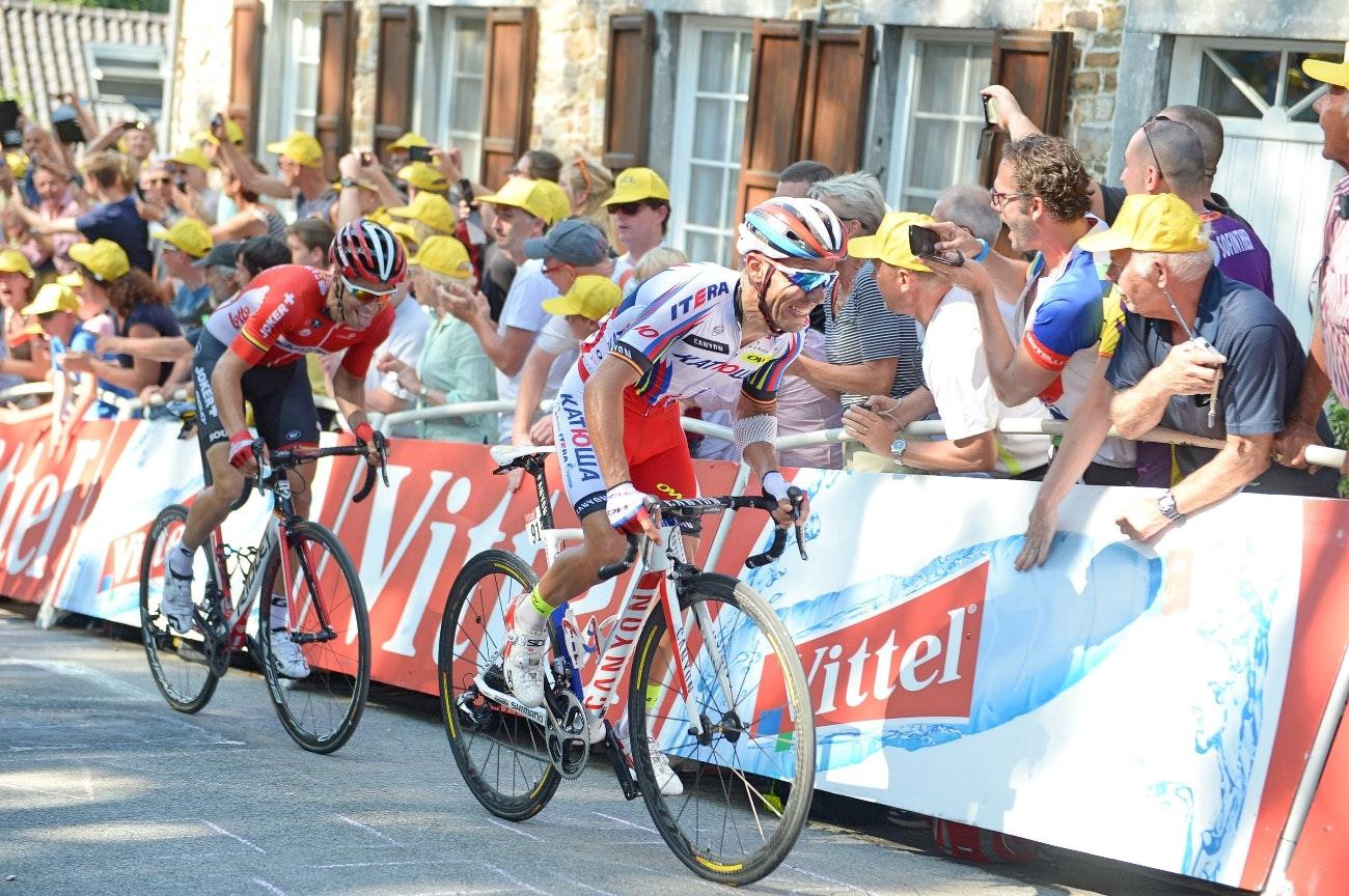 Joaquim Rodriguez, Katusha, Mur de Huy, Tour de France, climb, attack, threshold, pic - Sirotti