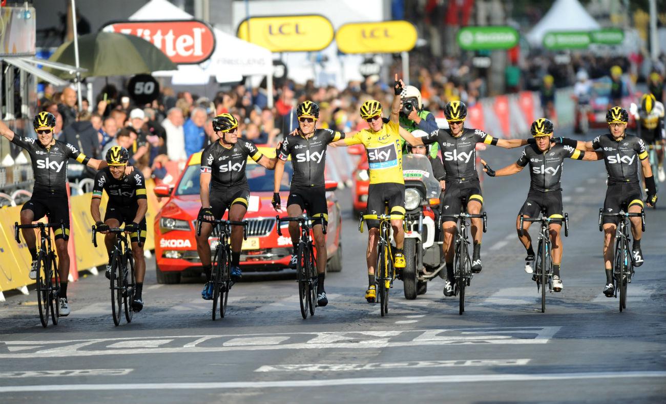 Tour de France 2015: Team Sky, Champs-Elysees