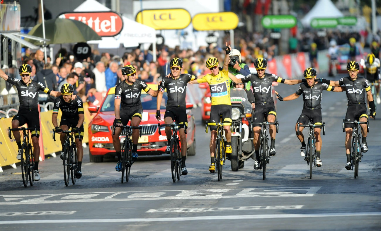 Tour de France 2015: Team Sky, Champs-Elysees