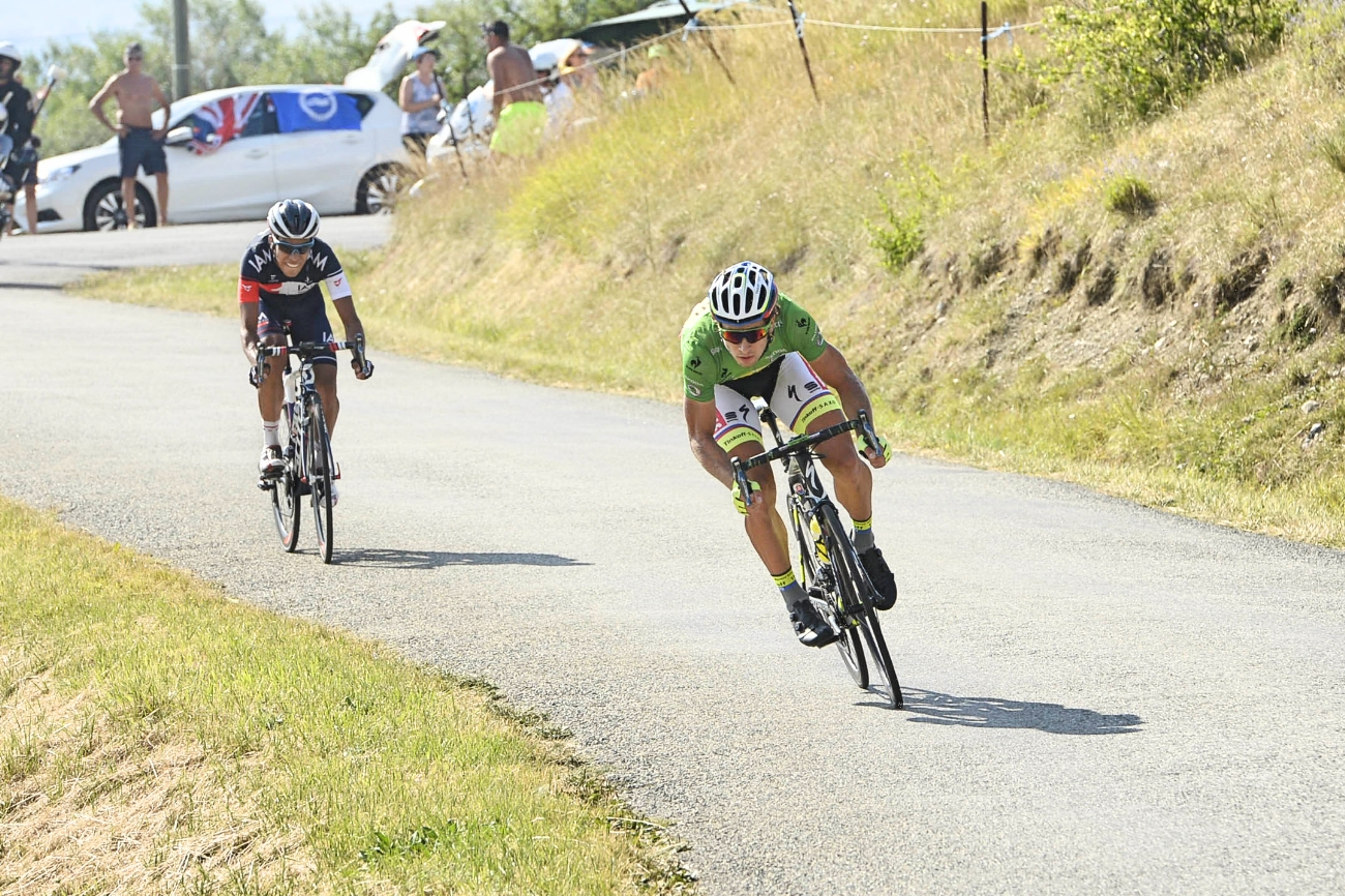 Peter Sagan, descending, Tour de France, 2015, pic - Sirotti