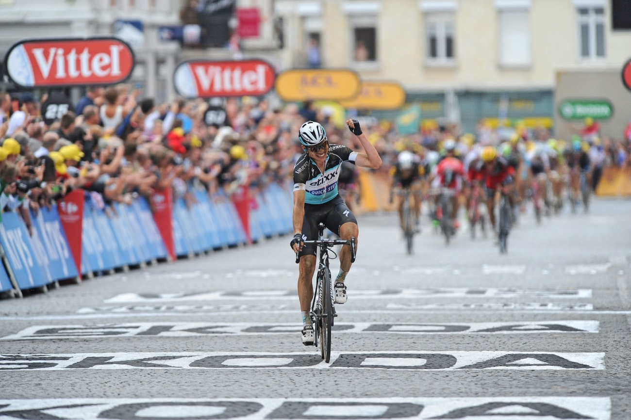 Tony Martin, Etixx-QuickStep, attack, stage win, Tour de France, 2015, stage four, pic: Sirotti