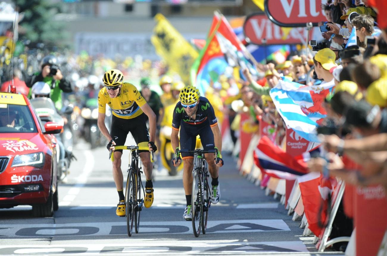 Tour de France 2015: Chris Froome, Alejandro Valverde, Alpe d'Huez
