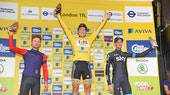 Edvald Boasson Hagen, Owain Doull, Wout Poels, Tour of Britain, podium, pic - The Tour