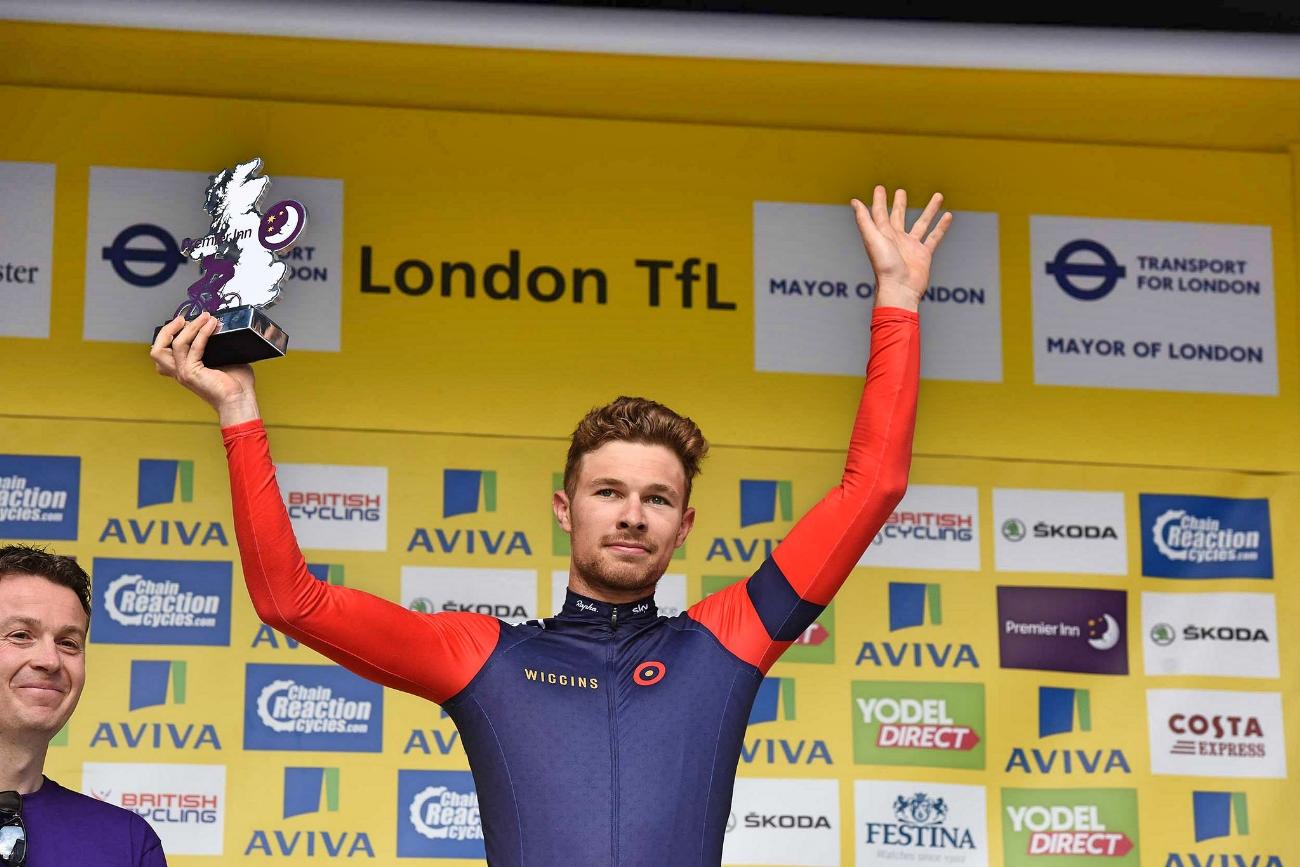 Owain Doull, Team WIGGINS, podium, Tour of Britain 2015, pic - The Tour