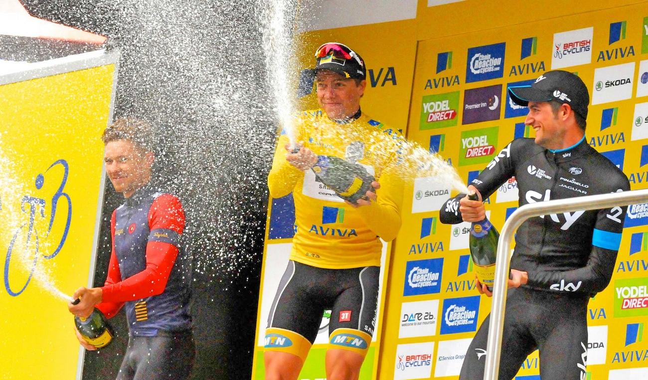 Tour of Britain, 2015, final podium, pic - The Tour