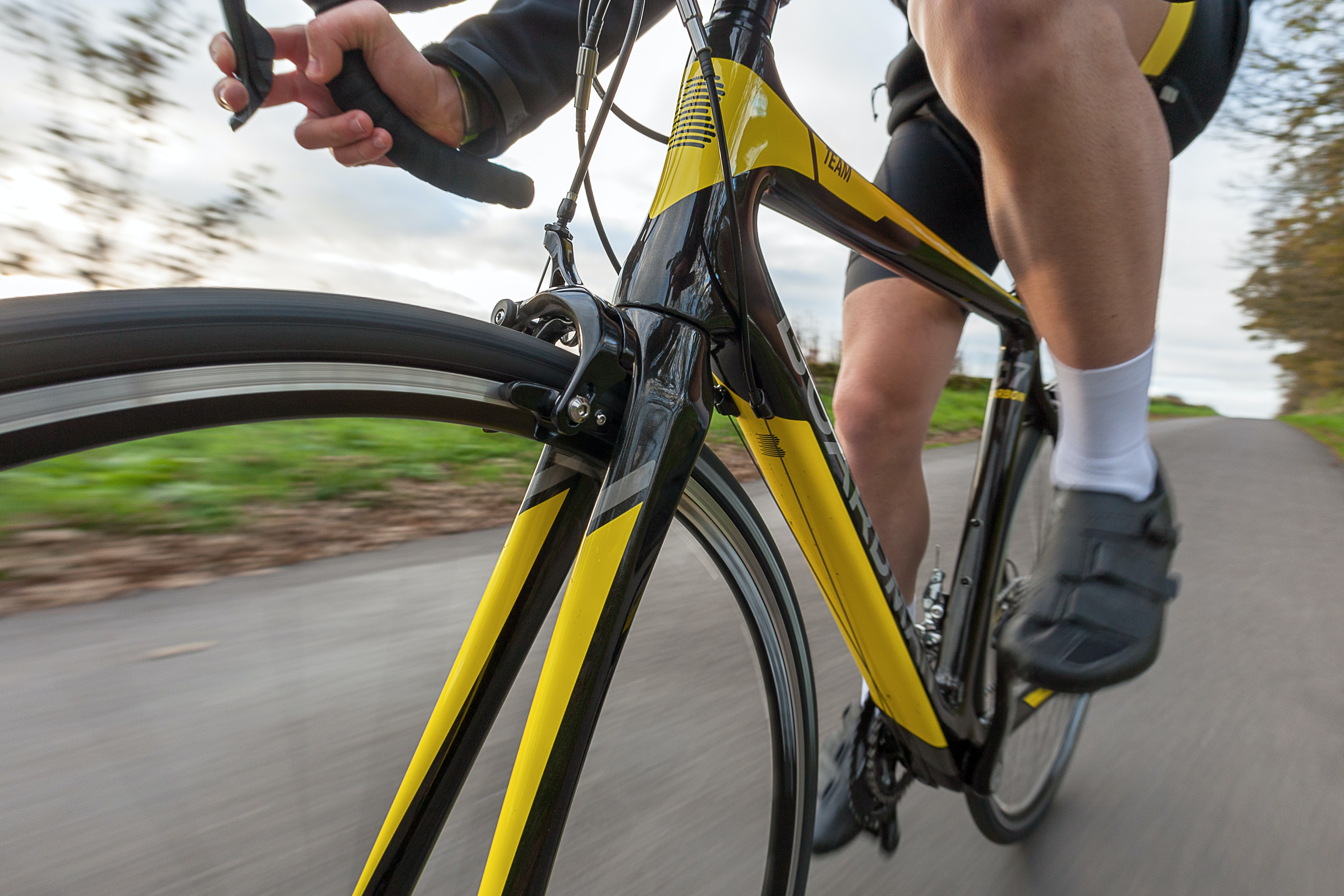 » Boardman Carbon Road Forks Black Yellow