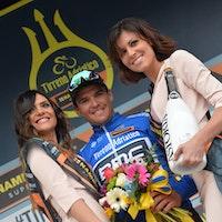 Greg van Avermaet, blue jersey, Tirreno-Adriatico, pic - RCS Sport