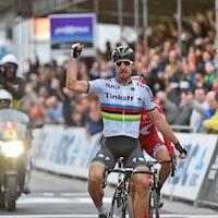 Peter Sagan, Tinkoff, world champion, Gent-Wevelgem, salute, pic - Sirotti