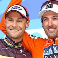 Tom Boonen, Fabian Cancellara, national champions, pic - Sirotti