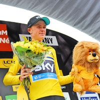 Chris Froome, yellow jersey, Criterium du Dauphine, 2016, pic - Sirotti