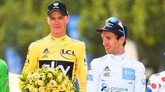 Chris Froome, Adam Yates, podium, Tour de France, 2016, yellow jersey, white jersey, pic - Sirotti