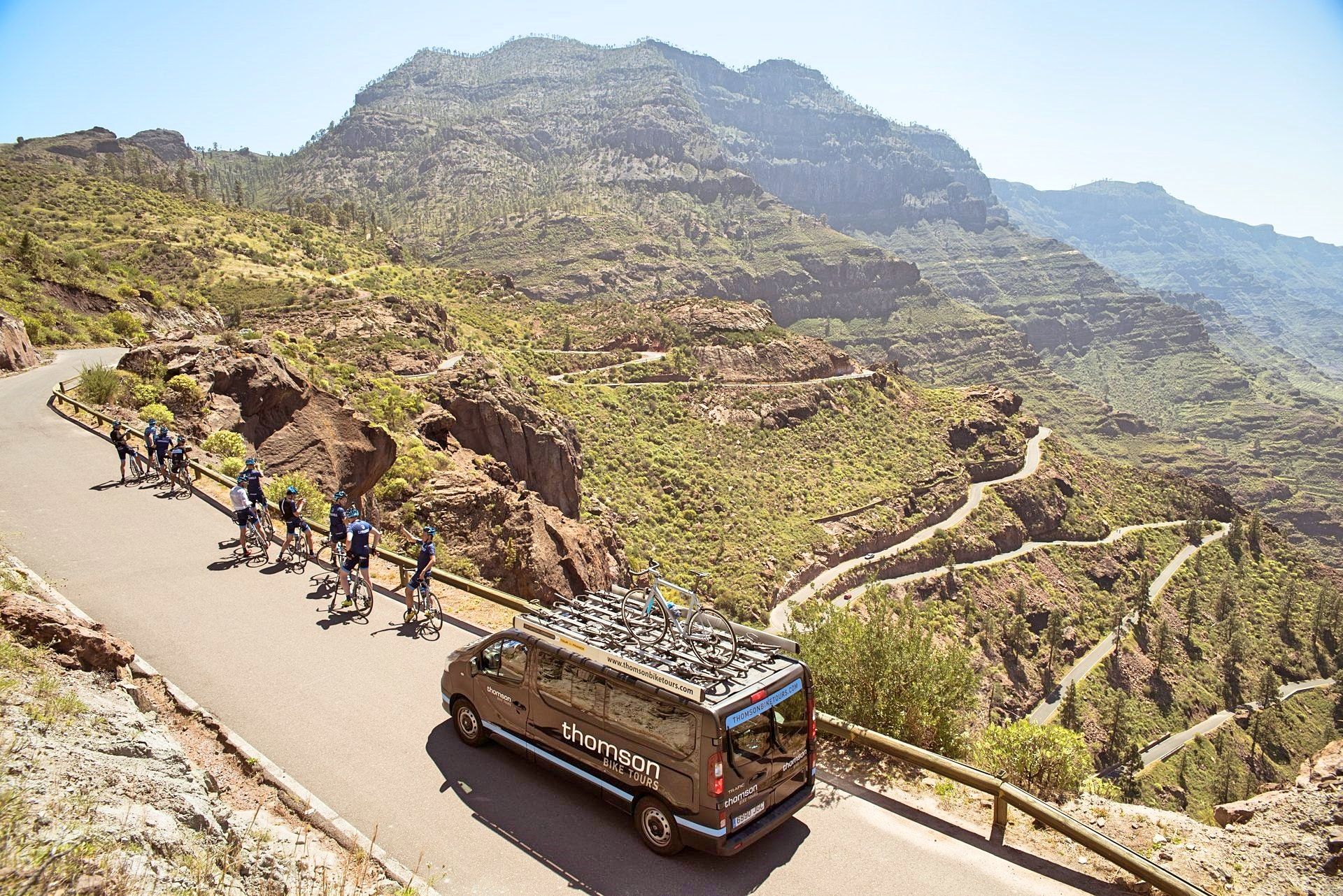 Canary Islands, bike tour, group ride, training camp, climb, pic - Campagnolo