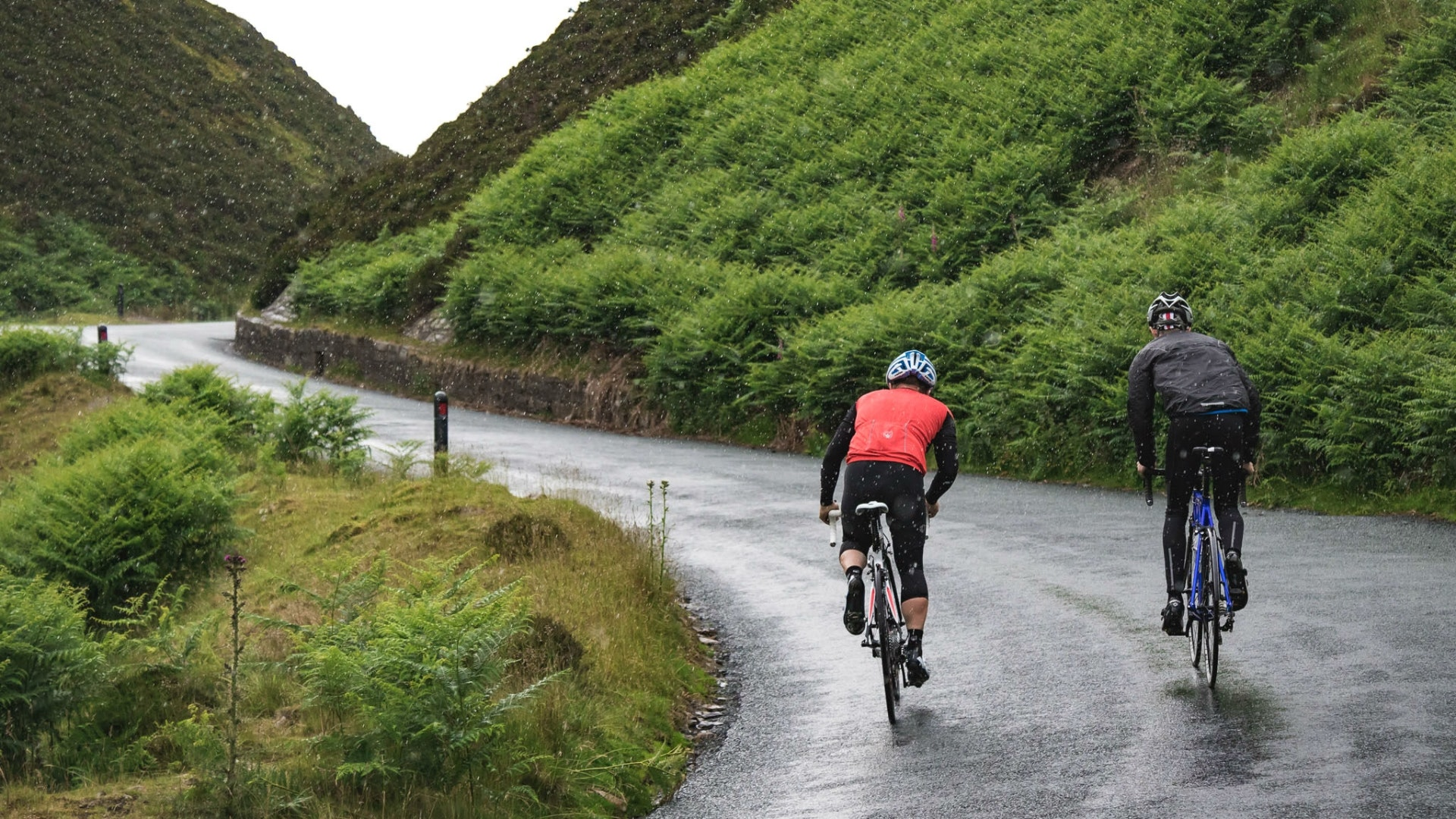 The UK has stunning riding on offer - but don't count on staying warm and dry (Pic: Scott Connor/Factory Media)