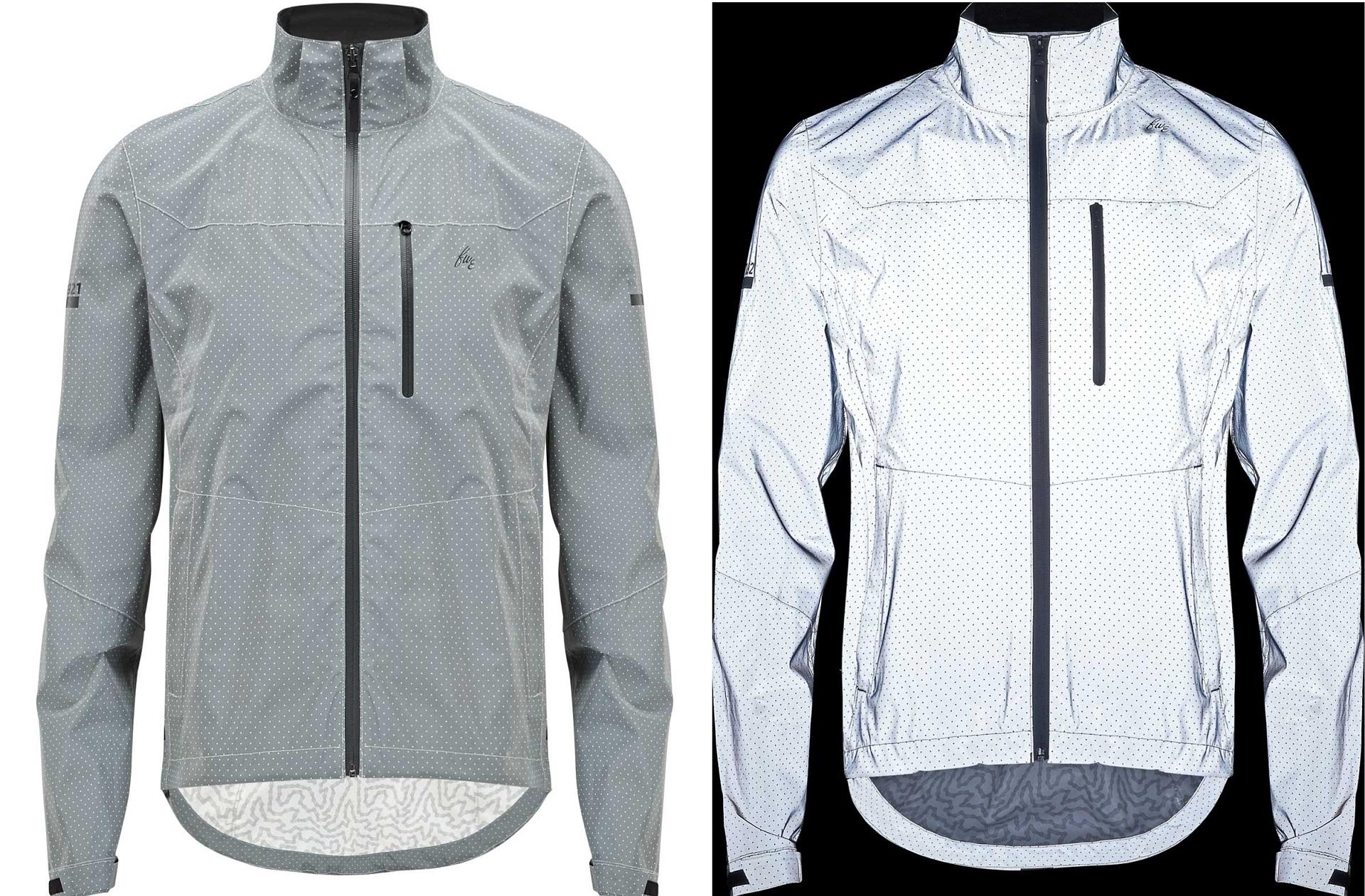 Men/'s Cycling Jackets High Visibility Reflective Hi Viz Bike Jerseys Windbreaker