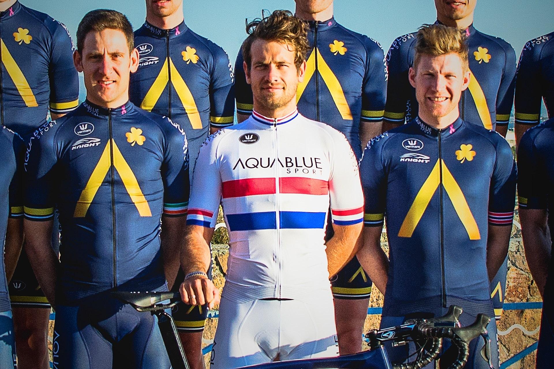 Aqua Blue Sport Racing Cap