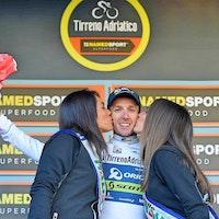 Adam Yates, Orica-Scott, 2017, Tirreno-Adriatico, white jersey, pic - RCS Sport