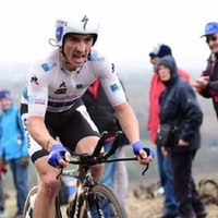 Julian Alaphilippe, white jersey, time trial, climb, pic - Alex Broadway/ASO