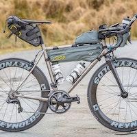 Mike Hall, endurance cycling, Kinesis Racelight Granfondo Ti V3, pic - Anthony Pease