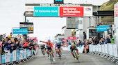 2017 Tour de Yorkshire - Bridlington - Scarborough, Dylan Groenewegen, sprint finish, Caleb Ewan, pic - Allan McKenzie/SWpix.com