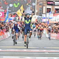 Alejandro Valverde, Liege-Bastogne-Liege, Movistar, 2017, salute, Michele Scarponi, pic - Sirotti