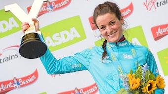 Lizzie Deignan, Boels-Dolmans, Tour de Yorkshire, 2017, podium, pic - Alex Whitehead-SWpix.com