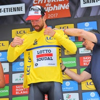 Thomas de Gendt, yellow jersey, Lotto-Soudal, Criterium du Dauphine, 2017, pic - Sirotti