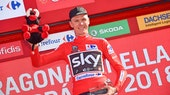 Chris Froome, 2017, Vuelta a Espana, red jersey, Team Sky, pic - Sirotti
