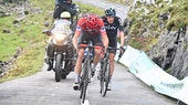 Chris Froome, red jersey, Wout Poels, Team Sky, Alto de L