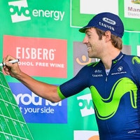 Alex Dowsett, Movistar, Tour of Britain, 2017, sign-on, pic - Alex Whitehead/SWpix.com
