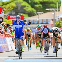 Elia Viviani, 2018, QuickStep Floors, Tour Down Under, sprint, (Pic: Getty Images/QuickStep Floors)