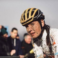 Nikki Brammeier, cyclo-cross, mud, British champion, (Pic: Balint Hamvas)