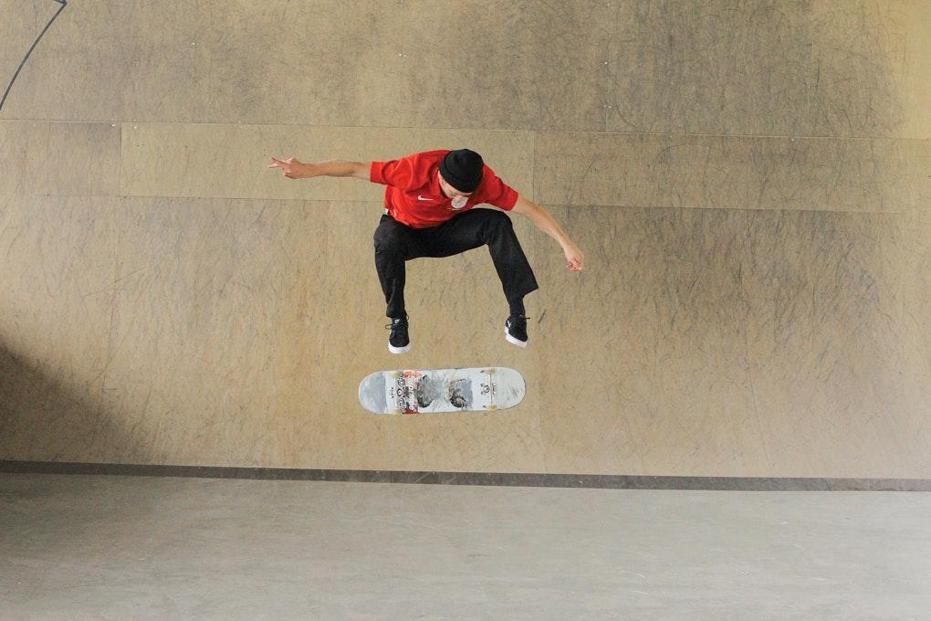 Intermediate Tricks Sidewalk Skateboarding