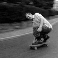 Ian MacKaye skateboarding