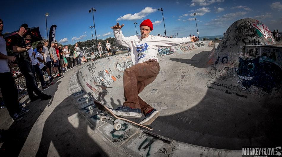 Alex Hallford - front rock slide