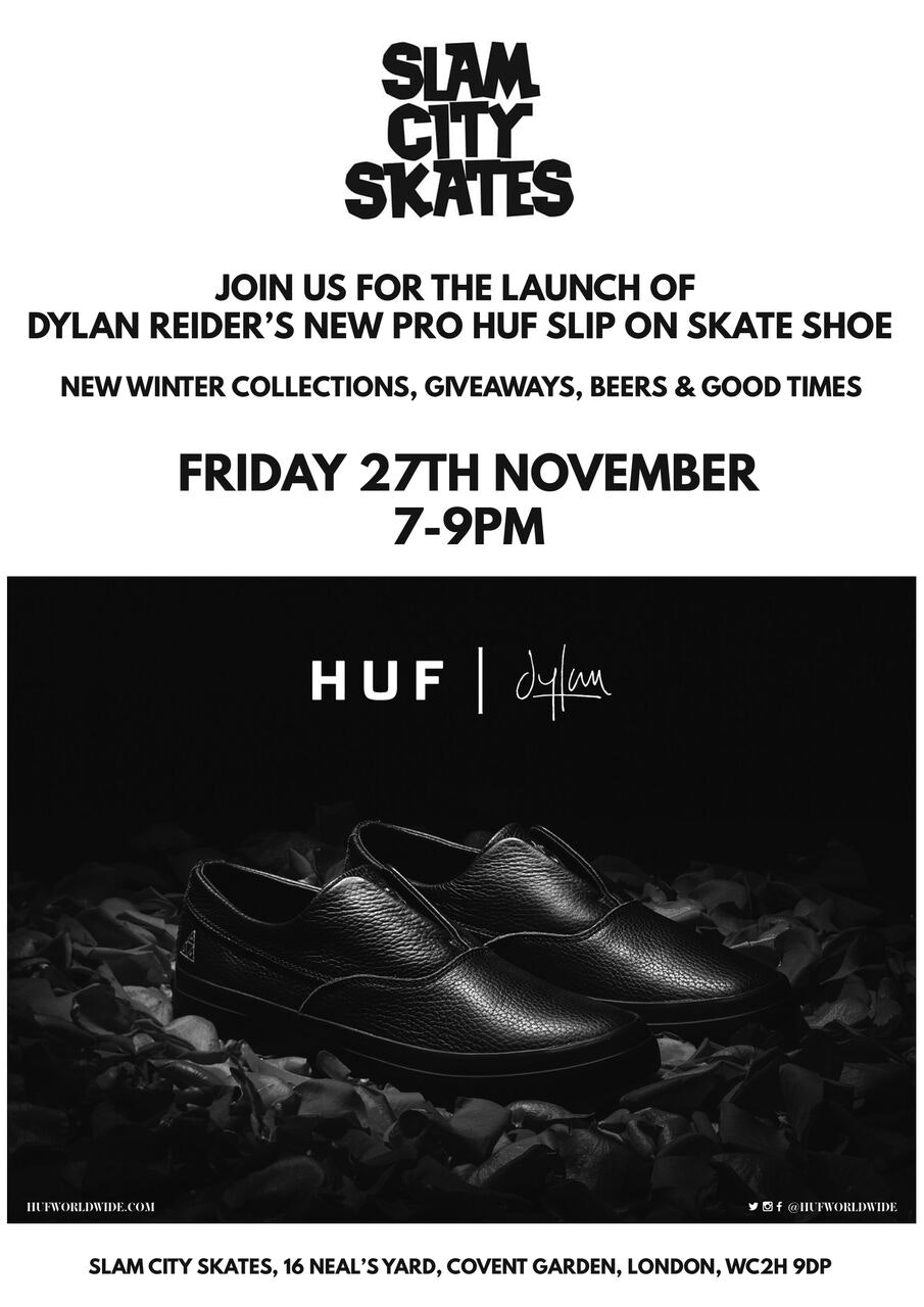 Dylan Reider Huf Launch At Slam Sidewalk Skateboar