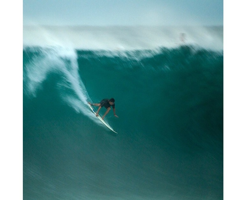 Bruce Irons on one of Andy's boards after the contest had been called off