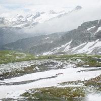 Snow on the mountains for Round 4 of the Enduro World Series in La Thuile. Image copyright Matt Wragg/Enduro World Series