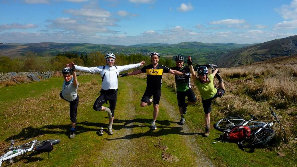 yoga and moutain biking in wales