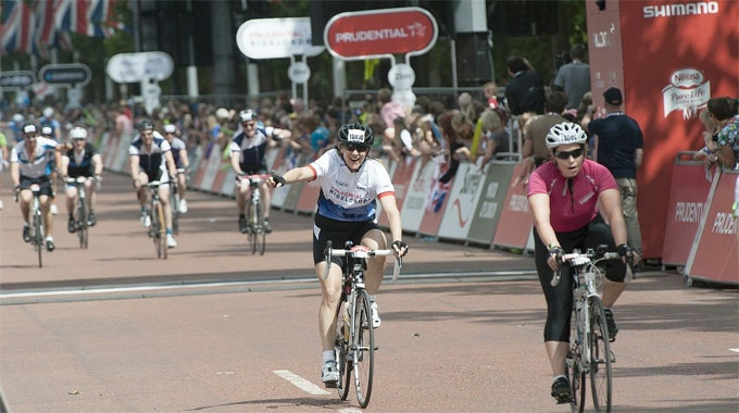 Prudential RideLondon 100 finish line 2013