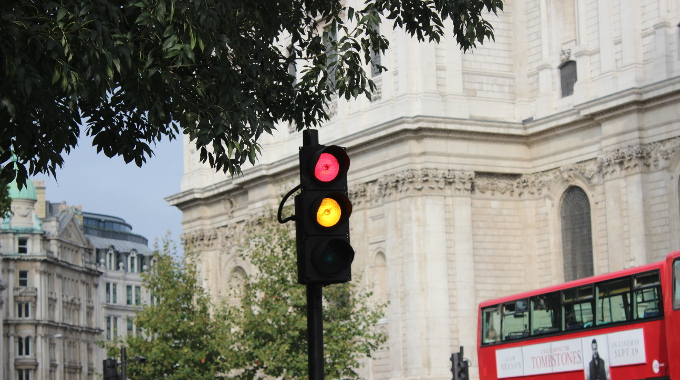 red amber traffic light