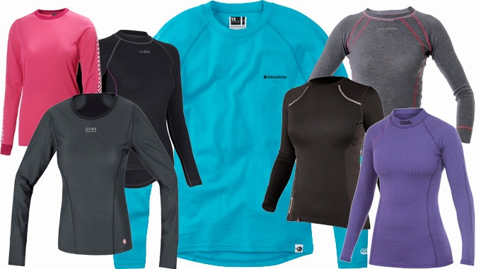 Winter Long Sleeved Women's cycling base layers