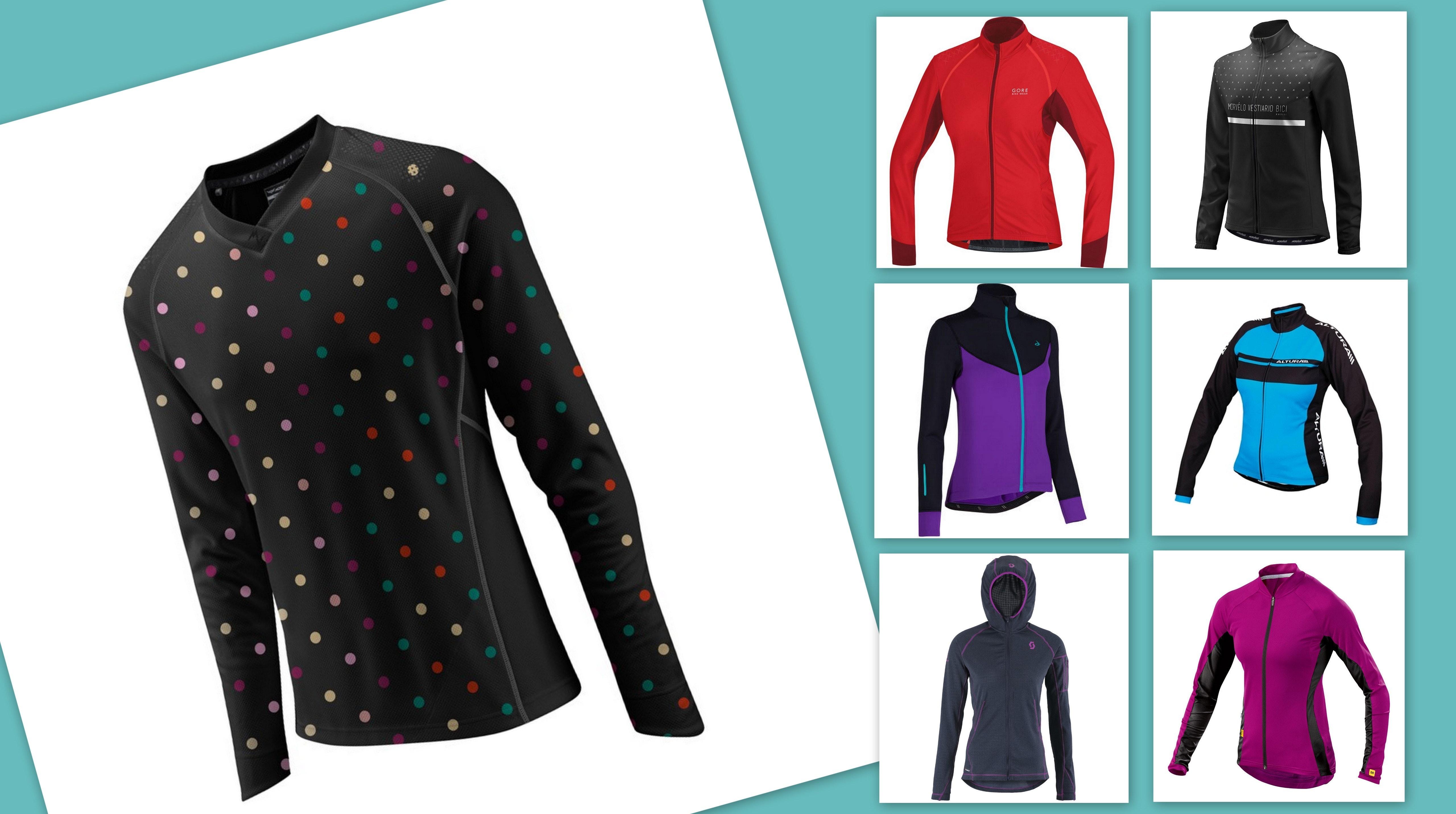 8 Winter MTB Jerseys collage