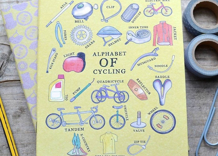 cycling notebook gift