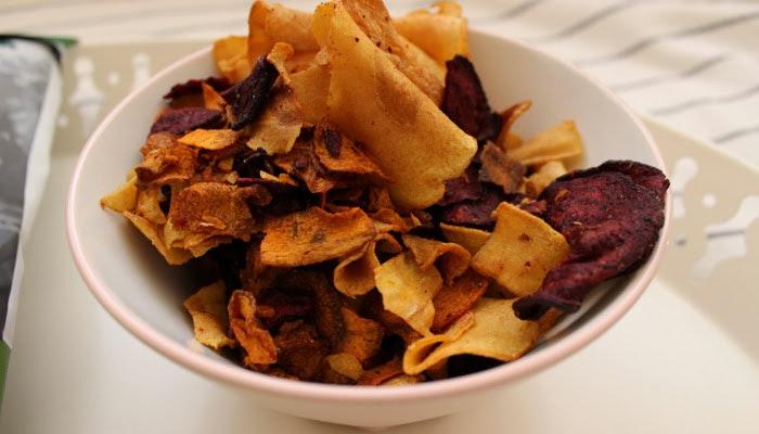healthy food nutrition content vegetable crisps