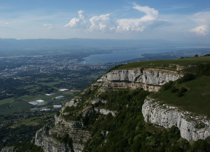 mount saleve mountain view landscape holiday
